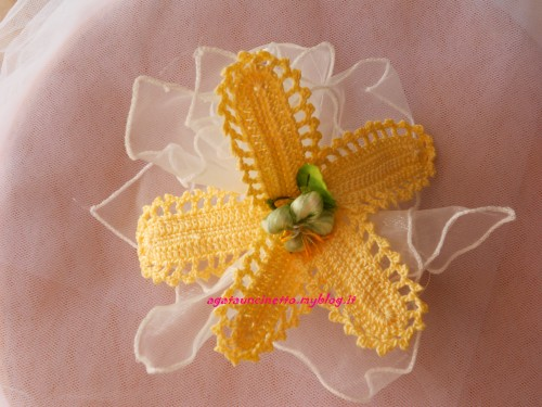 bomboniera fiiore giallo