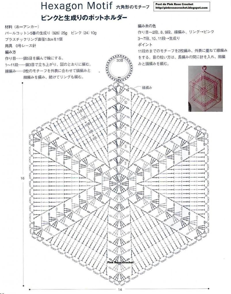 Схема вязания прихваток крючком для начинающих 41